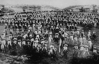 Liberation Army of the South armed group during the Mexican Revolution