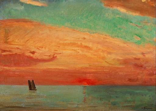 Fujishima Takeji - Sunrise over the Eastern Sea - Google Art Project