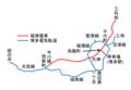 Fukuoka city tramway network circa 1930 ja.png
