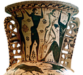 Funerary proto-Attic amphora by Polyphemos painter depicting Odysseus and his men blinding the cyclops Polyphemus from sarah murray flickr 8706777442 b4db371a26 o cropped white bg.png