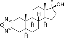 Skeletal formula of furazabol