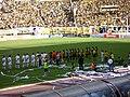 Futbolistas del Deportivo Táchira y Real Esppor.JPG