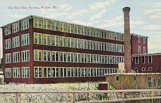 G.H. Bass & Co. - Image: G. H. Bass & Co. Shoe Factory, Wilton, ME