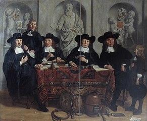 De overlieden van het Kuipers- en Wijnverlatersgilde