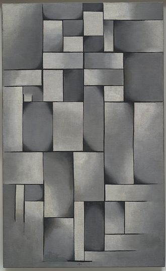 Theo van Doesburg - Theo van Doesburg, Composition in Gray (Rag-time), 1919, Oil on canvas, 196.5 × 59.1 cm (38 × 23.3 in), The Solomon R. Guggenheim Foundation Peggy Guggenheim Collection, Venice, 1976