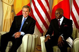 Abdoulaye Wade - Wade with President of the United States George W. Bush in July 2003