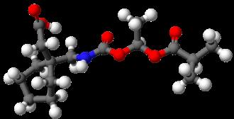 Gabapentin enacarbil - Image: Gabapentin enacarbil 3D balls