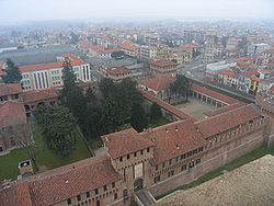 View of Galliate with the castle.