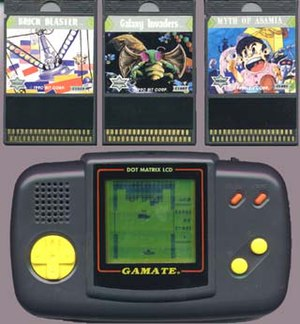 Handheld game console - Gamate and game cards