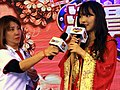 Gamexpress microphone and Yua Mikami on Taiwan Pavilion stage 20180127.jpg