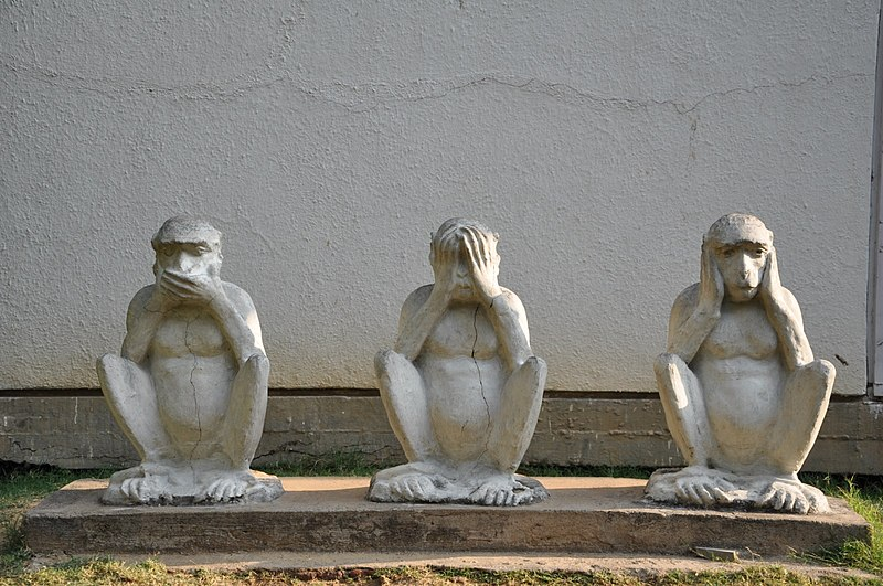 File:Gandhiji's Three Monkeys.JPG
