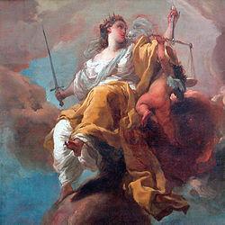 Gaetano Gandolfi: Allegory of Justice