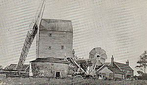 Garboldisham Windmill - The mill c.1890
