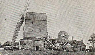 Garboldisham Windmill - The mill c.1890