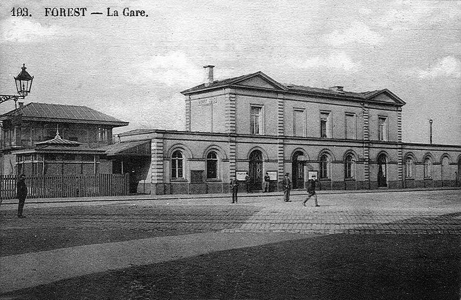 La gare de Forest-Midi vers 1900