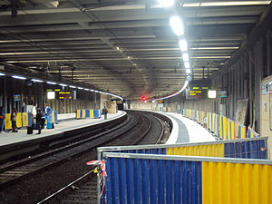 Schuman railway station - Old station platform, now being replaced by renovations to expand station.