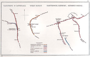 Birkenhead Railway - Image: Garstang & Catterall, West Kirby Nantybwch, Rhymney, Rhymney Bridge RJD 110