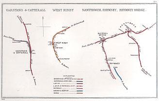 Birkenhead Railway - Image: Garstang & Catterall, West Kirby Nantybwch, Rhymney, Rhymney Bridge RJD 110