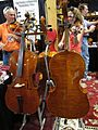 Gatchell Violin Company, cellos, 2010 Summer NAMM.jpg