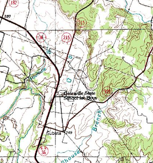 Gatesville State School - Topographic map, July 1, 1983, U.S. Geological Survey