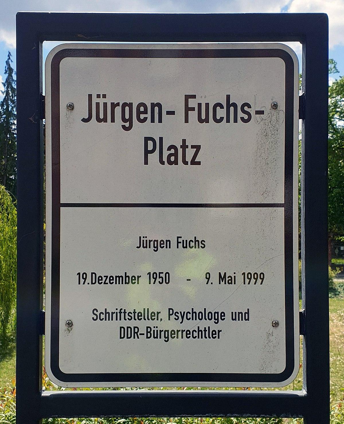Datei Gedenktafel Jurgen Fuchs Platz Dahlem Jurgen Fuchs Jpg Wikipedia