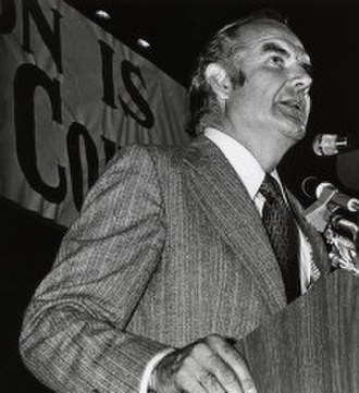 United States presidential election, 1972 - George McGovern speaking at an October 1972 campaign rally