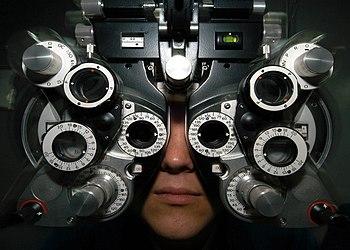 A phoroptor can measure refractive error to de...