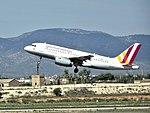 Germanwings A319-132 (D-AGWS) taking off from Palma de Mallorca Airport.jpg