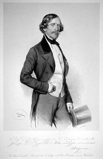 Carl Ritter von Ghega - Carl Ritter von Ghega, drawn by Joseph Kriehuber, 1851