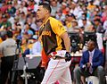 Giancarlo Stanton competes in semis of '16 T-Mobile -HRDerby. (28574678635).jpg