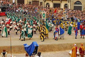 Saracen Joust - Image: Giostra del Saracino Entrance of the Knights Arezzo Italy JD02092007