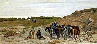 Brigandage in Southern Italy after 1861 - Image: Giovanni Fattori Episodio della campagna contro il brigantggio 1864
