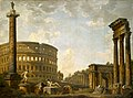 Giovanni Paolo Panini - Roman Capriccio, The Colosseum and Other Monuments - 50.6 - Indianapolis Museum of Art.jpg