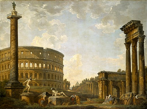 Giovanni Paolo Panini - Roman Capriccio, The Colosseum and Other Monuments - 50.6 - Indianapolis Museum of Art