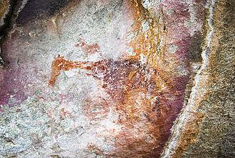 Tsodilo - Giraffe Rock Art Painting: Tsodilo Hills