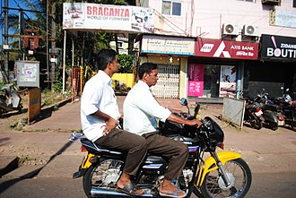 "Motorcycle Taxi or ""Pilots"" Goa Pilot Vehicle.JPG"