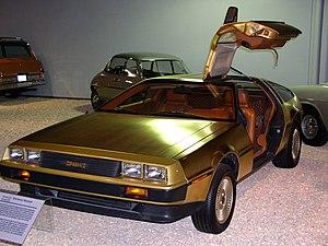 National Automobile Museum - The Golden DeLorean at the National Automobile Museum