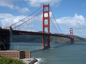 El Pont Golden Gate vist des de San Francisco