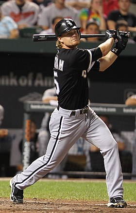 Gordon Beckham on August 10, 2011.jpg