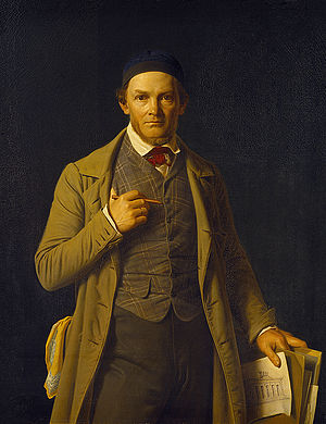 Michael Gottlieb Bindesbøll - Constantin Hansen, Portrait of Gottlieb Bindesbøll, 1840