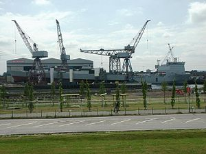 Fairfield Shipbuilding and Engineering Company - The former Fairfield shipyard continues in operation as part of BAE Systems Surface Ships.