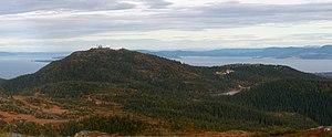 Bymarka - Gråkallen mountain seen from Storheia.