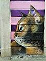 Graffiti in Shoreditch, London - Cat by Masai (9425005846).jpg