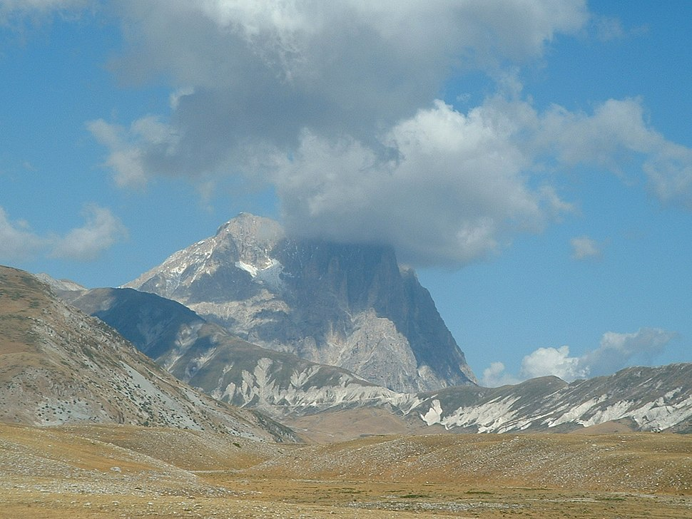 Gran Sasso in clouds