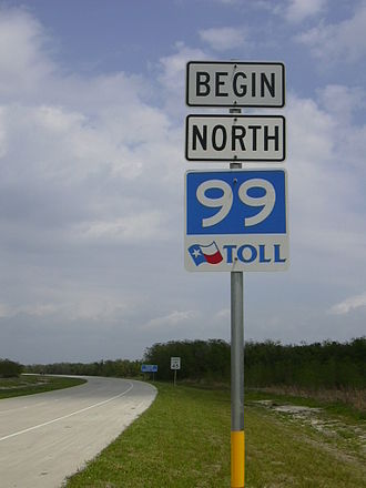 Texas State Highway 99 - The southern end of the tolled portion of segment I-2