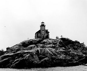 Granite Island Lighthouse - USCG archive image of Granite Island Light