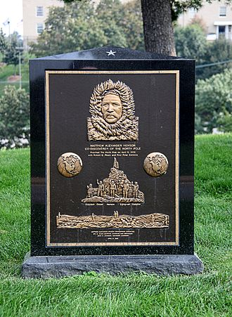 Matthew Henson - Henson's grave in Arlington National Cemetery in Arlington, Virginia, U.S. The grave of Peary is behind it.