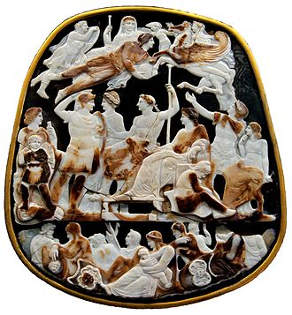 Julio-Claudian family tree - The Great Cameo of France, from around 23 AD, pictures several members of the Julio-Claudian dynasty