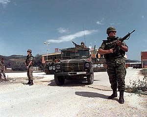 Greek Army IFOR deployment during the Bosnian ...