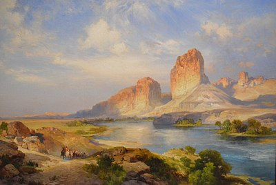 Green River, Wyoming by Thomas Moran, 1907, Tacoma Art Museum.jpg